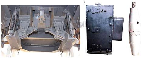 首页 产品展示 首尾绳悬挂        防坠器是竖井罐笼的一种重要安全